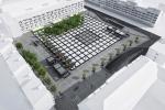 Plac Nowy Targ widok ogólny bez Pawilonu Miejskiego