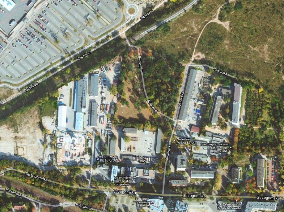 Zdjęcie satelitarne ©2013 DigitalGlobe, GeoEye, MGGP Aero, Dane do Mapy ©2013 Google