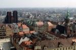 Porównanie panoramy miasta widzianej z bazyliki św. Elżbiey