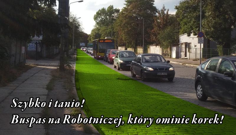 Powstanie wreszcie buspas na ul. Robotniczej