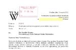 List w spawie torowisk złożony 16 stycznia 2012