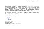 Odpowiedź w sprawie torowisk z 27 grudnia 2011