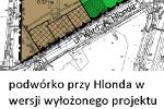 Podwórko przy Hlonda w wersji wyłożonego projektu